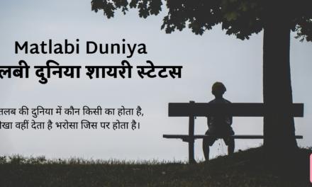 TOP 50 : Matlabi Duniya Shayari Status – मतलबी दुनिया शायरी स्टेटस